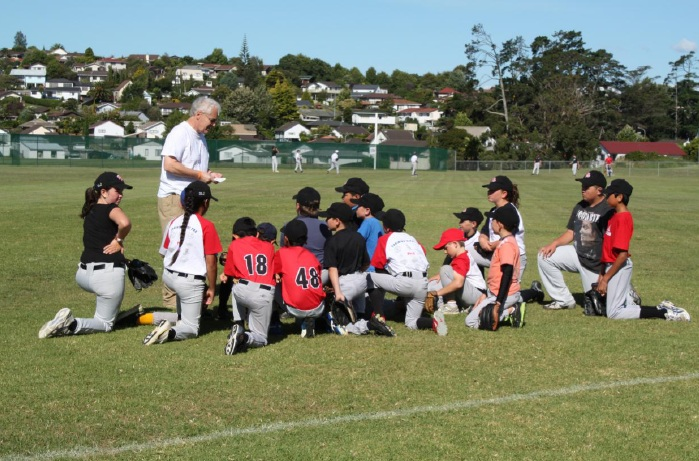 Phil Rognier coaching in New Zealand